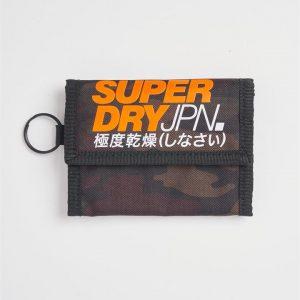 Superdry T Camo Velcro Wallet Dark Navy