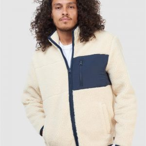 Superdry Nyc Sherpa Jacket Ecru