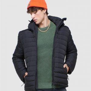 Superdry Hooded Fuji Jacket Black