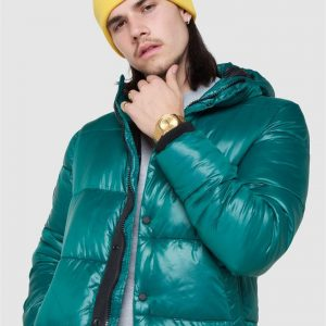 Superdry High Shine Padded Jacket Mid Pine