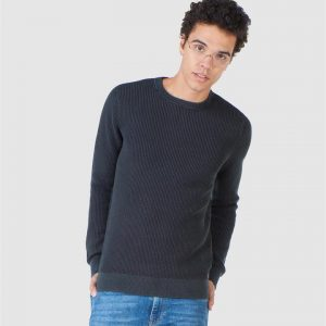 Superdry Academy Dyed Texture Crew Washed Carbon Black