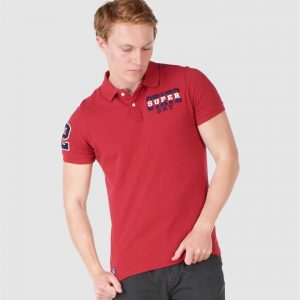 Superdry Superstate Polo Chilli Pepper