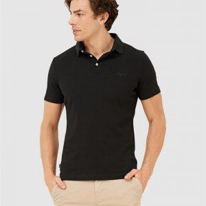 Superdry Orange Label Jersey Polo Black