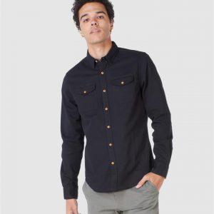 Superdry Classic Commuter Shirt Black Twill