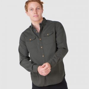 Superdry Classic Commuter Shirt Olive Twill