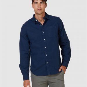 Superdry Lined Dried Oxford Shirt Indigo