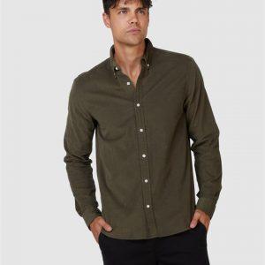 Superdry Classic Corduroy Shirt Olive