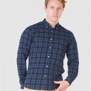 Superdry Classic London B.D. Shirt Teal Blue Check