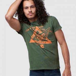Superdry Copper Label Tee Drab Overall Green