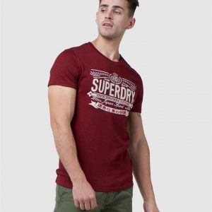 Superdry Rw Classic Applique Tee Rich Red Grit