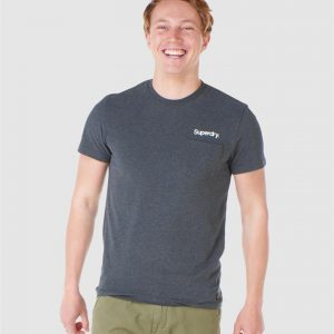 Superdry Cl Canvas Tee Nordic Charcoal Marle