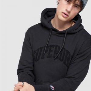 Superdry Varsity Arch Mono Hood Black