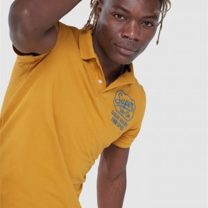 Superdry S/S Superstate Polo Ochre Gold
