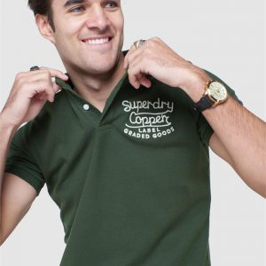 Superdry S/S Superstate Polo Surplus Goods Olive