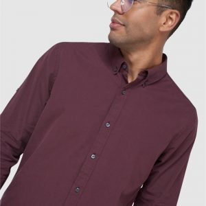 Superdry Classic University Oxford Micro Gingham Port