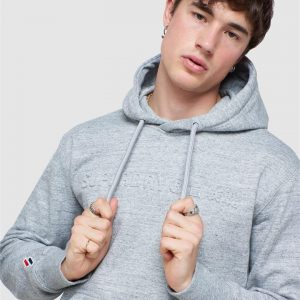 Superdry Sportstyle Embossed Hood Grey Slub Grindle