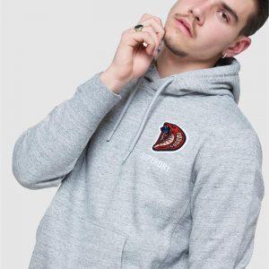Superdry Sport Modern Franchise Hood Grey Slub Grindle