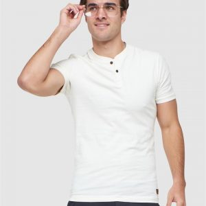 Superdry Ss Henley Tee Rice White