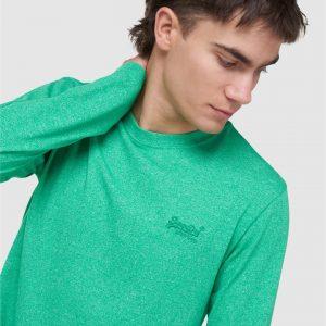 Superdry Ol Vintage Emb Ls Top Bright Green Grit