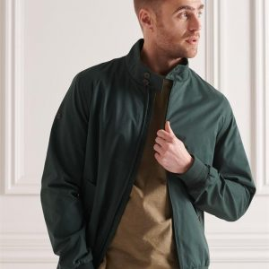 Superdry Iconic Harrington Forest Green