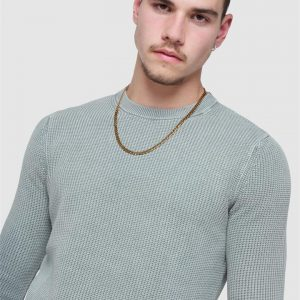 Superdry Academy Dyed Crew Stone Grey Grit
