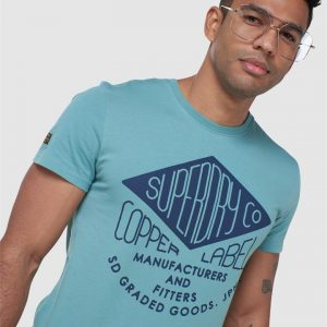 Superdry Ss Workwear Graphic Tee Cerulean Dusk