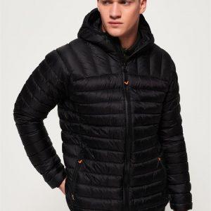 Superdry Core Down Hooded Jacket.. Black