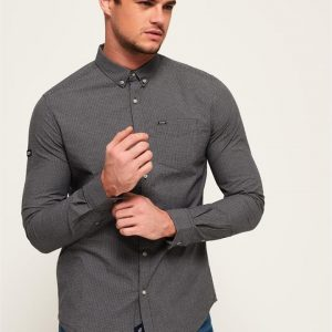 Superdry Ultimate Uni Oxford Shirt Black Tex Gingham