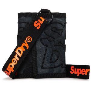 Superdry Academic Bi Fold Wallet Wet Look Camo