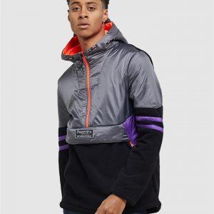 Superdry Polar International Overhead Steel Grey/Black/Purple