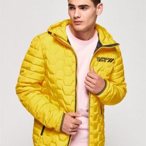Superdry Hex Mix Down Jacket Yellow