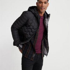 Superdry Hex Mix Down Jacket Black