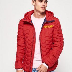 Superdry Hex Mix Down Jacket True Red