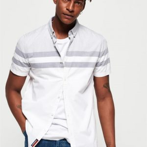 Superdry International Poplin S/S Shirt Atlantic Chambray Stripe