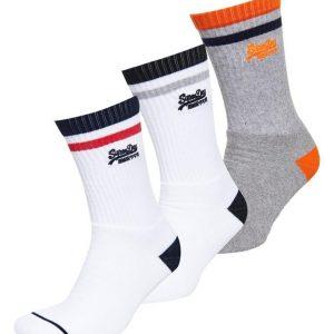 Superdry Vintage Logo Sock Black/Optic/Grey Marle