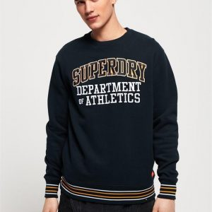 Superdry College Boxy Fit Applique Crew Navy