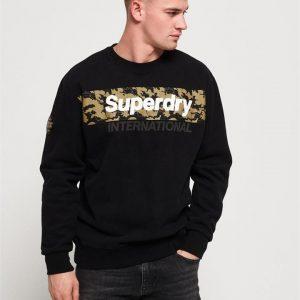 Superdry Inter Monochrome Oversized Crw Black