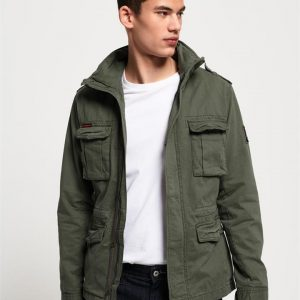 Superdry Classic Rookie 4 Pkt Jkt Army Green