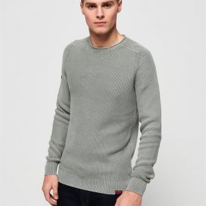 Superdry Garment Dye L.A.Textured Crew Washed Sunscorched Sand