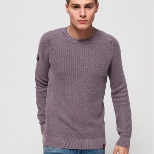 Superdry Garment Dye L.A.Textured Crew Washed Lilac