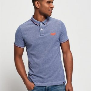 Superdry Classic Poolside Pique Polo Cobalt/White