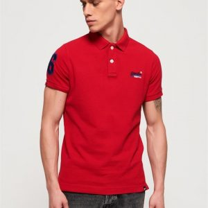 Superdry Classic Pique Polo Rich Red