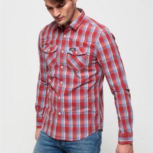 Superdry Washbasket L/S Shirt Washed Red Check