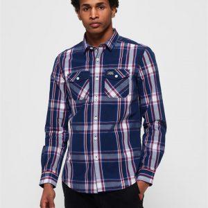 Superdry Washbasket L/S Shirt Midnight Check