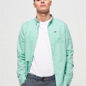 Superdry Premium Uni Oxford L/S Shirt Mint Sorbet