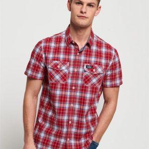 Superdry Washbasket S/S Shirt Dartmouth Red Chcek
