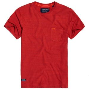 Superdry Dry Originals S/S Pocket Tee Buoy Red Space Dye