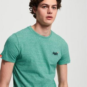 Superdry O L Vintage Embroidery S/S Tee Green Grit Feeder