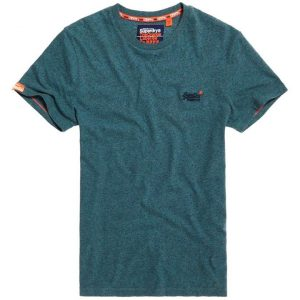 Superdry O L Vintage Embroidery S/S Tee Rich Teal Grit