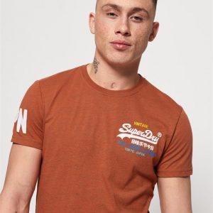 Superdry Vintage Logo Cali Fade Lite Te Nu Orange Grit